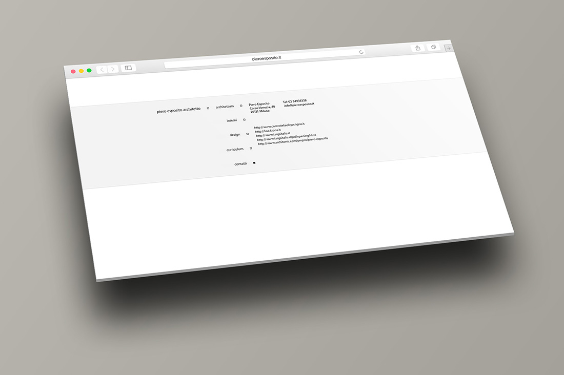 Esposito Architetti - web site