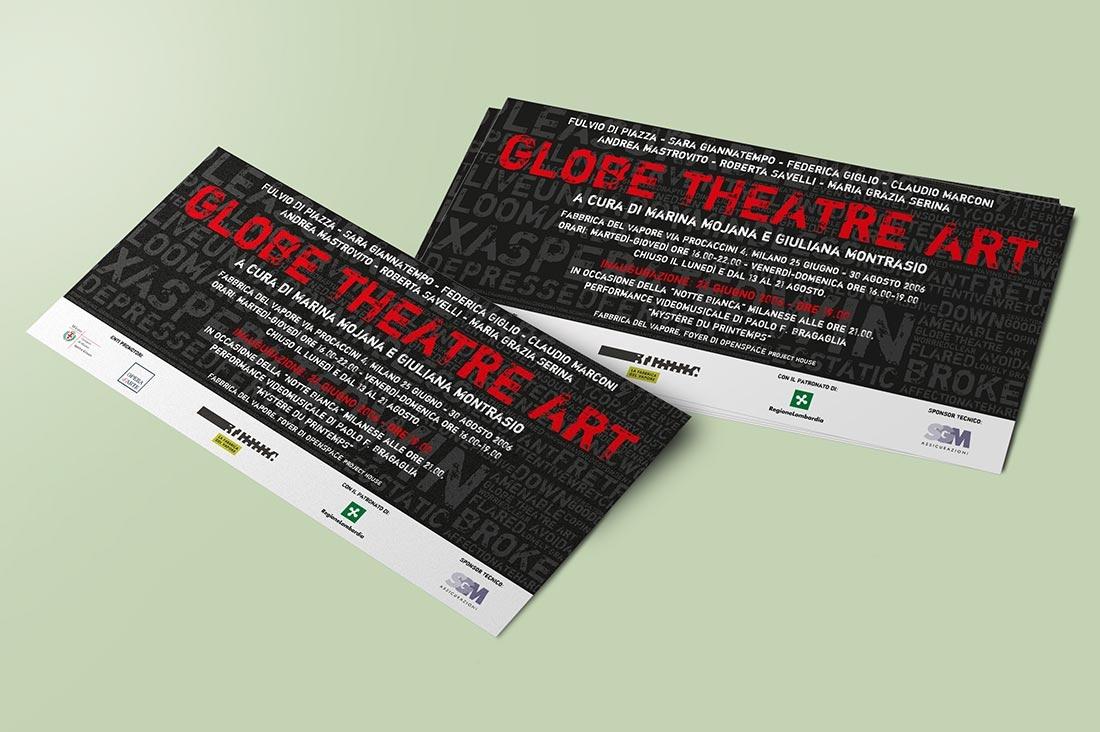 Globe Theatre Art - Invitation